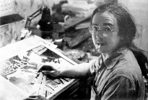 Gene Day in his studio