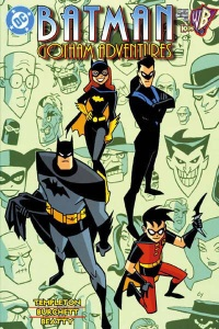 Gotham Adventures trade paperback (2000) Cover by Ty Templeton.