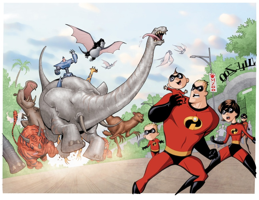 Marcio takes on Disney/Pixar's The Incredibles for Boom! Studios in March 2009