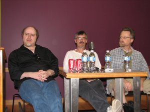 Ty Templeton, Tom Grummett and Dave Ross at the 2008 Sequential Arts Symposium