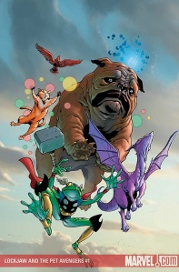 Lockjaw and the Pet Avengers #1, cover by Karl Kerschl