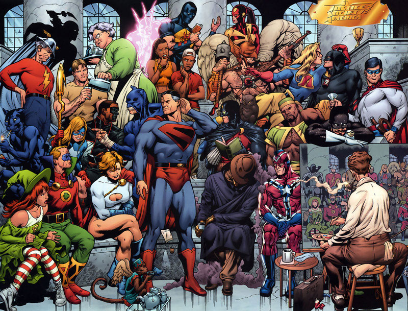 The Justice Society of America by Dale Eaglesham, from JSA Annual #1 (2008)