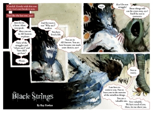 """""""Black Strings"""", Written and Painted by Ray Fawkes"""