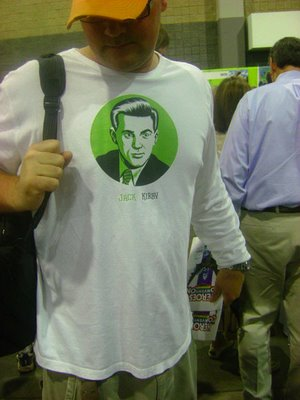 The unauthorized t-shirt spotted at HeroesCon - note that Cho's signature was removed. Photo by Ty Buttars.
