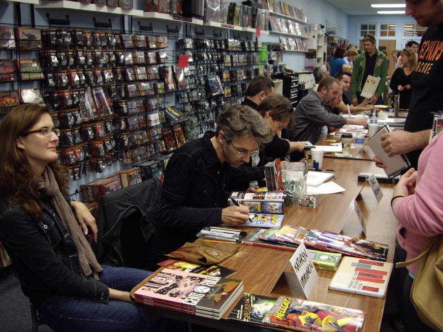 Grand Opening Comic Guests: Kathryn Immonen, Stuart Immonen, Dale Keown, Richard Pace, Jay Stephens, Scott Chantler, Nick Postic, Lar DeSouza