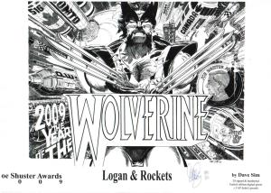 Dave Sim's contribution to the Visions of an Icon: Wolverine art show will be on display with ~50 additional pieces by comic book creators