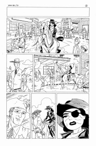 black and white art from Jonah Hex 50