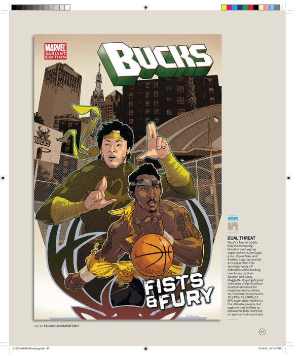 The Milwaukee Bucks by Kalman Andrasofszky