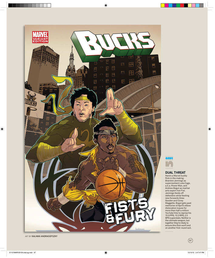 The Milwaukee Bucks by Kalman Andrasofszky
