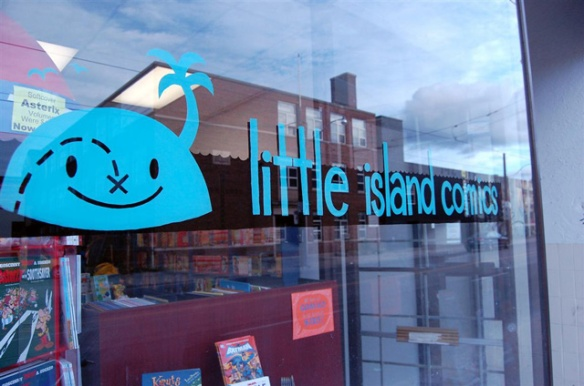 Little Island Comics - Photo by Matt Demers, by way of the Torontoist blog