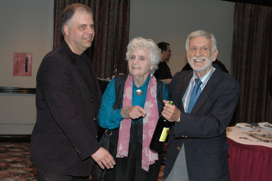 Tyrone Biljan, left, with Gro and Jerry Robinson in 2007.