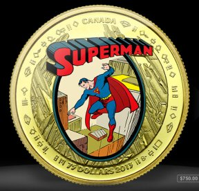 2014 Superman Coin from the Royal Canadian Mint - Art by Joe Shuster
